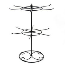 Double Tier Metal Rotating Jewelry Stand Earring Necklace Display Holes Holder Rack KQS8