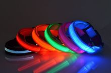 RD21 New Pet Dog Collar LED Nylon Light-emitting collars dog collars pet supplies free shipping(China)
