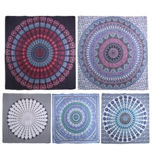 Beach Towels Summer Large Shawl Chiffon 150cm Jacquard Beach Towels Bohemian Style Printed Round  Floral Pattern Bath Towel