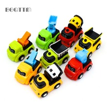 8Pcs/Lot Pull Back Toy Cars Diecast Model Mini Tractor China Kids Toys Collection Gift For Boys New Year Cheap Birthday Toys