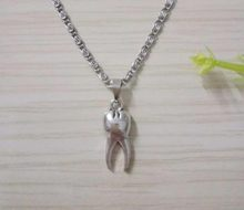 New Fashion Jewelry Vintage Antique Silver Color Lovely tooth Charms Pendant Necklace wholesale