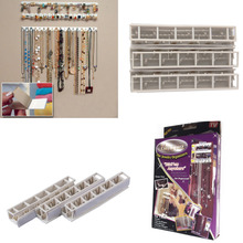 OUTAD 9 in 1 Bling eez Adhesive hooks Jewelry Organizer jewelry storage hook combination sticky hooks hooks wall stickers set