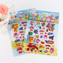 2PCS/lot carton bubble sticker of Super Wings puffy stiker for kids present