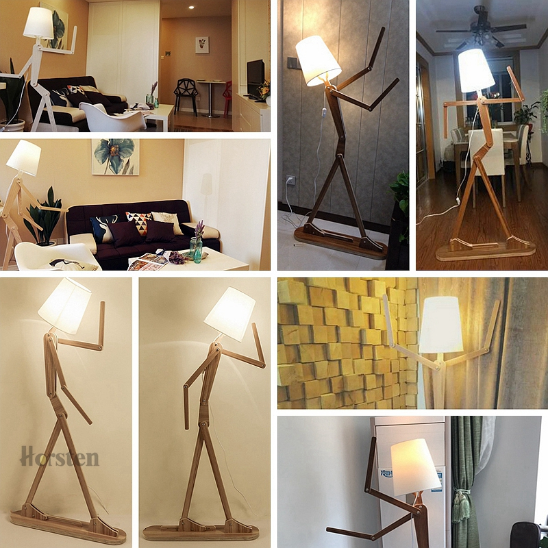 Japanese Style Creative DIY Wooden Floor Lamps Nordic Wood Fabric Stand Light For Living Room Bedroom Study Art Deco Lighting E27 (19)