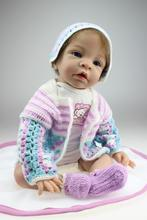 The new trade hot simulation reborn Baby Doll Girl Toy creative gifts popular in Europe and the United States
