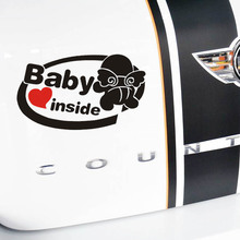 New 19*11cm Cute 3D baby inside Car Stickers car styling vinyl decal tail sticker for Cars Acessories decoration warning sticker