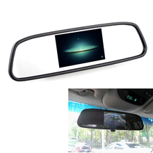 Hot 7 inch +E366 Black camera LCD car rear view mirror monitor backup parking sensor multimedia screen display Vehicle display(China)
