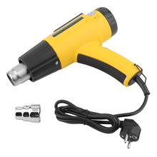 2000W AC220V LCD Electronic Digital Hot Air Gun Electric Heat Gun Shrink Wrapping Thermal Power Tool EU Plug + Nozzle