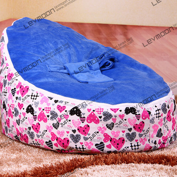 FREE SHIPPING baby seat cover with 2pcs blue up cover baby bean bags cover baby bean bag seat waterproof baby bean bag chair<br>