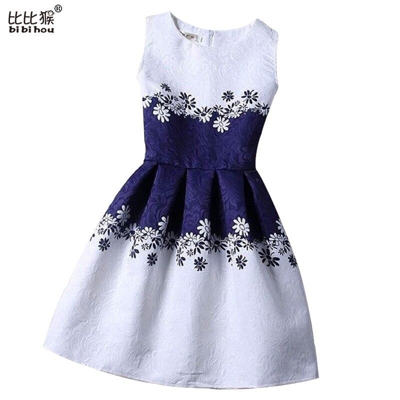 Summer Dress 2016 Fashion Print Flower Vest Girls Dresses Brand Designer Princess Party For Baby Kids Clothes Girl Dress Vestido<br><br>Aliexpress