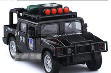 1 PC 14.5cm Alloy model car toys Hummer H1 SUT Acousto-optic version open the door boys children toy gifts