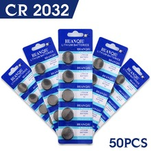 50pcs High Capacity  CR2032 DL2032 KCR2032 5004LC ECR2032 3v lithium battery Cell Button Card Toys Batteries LOT 2032 51% off