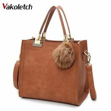 Hot Sale Suede Leather Bags Women Brand Designer Handbags High Quality Tote Women Shoulder Messenger Bags A-56(China)