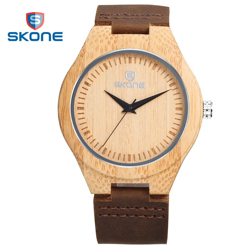 SKONE Natural Womens Maple Bamboo Watches for Male Casual Quartz Watches Antique Unisex Sport Wristwatches Relogios Masculinos<br><br>Aliexpress