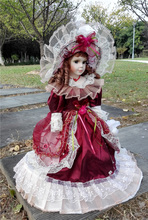 Hot Sell 41CM European Style Victoria Style Russia Ceramic Classical Doll Noble Porcelain Doll High Quality Toy Gift For Girl 14(China)