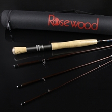 ROSEWOOD 9' 2.7m Stream Fly Rod Carbon Fiber 4-Piece FlyFishing Rods Fishing Tackle With Cordura Tube (Size 5/6 Fly Line)