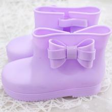 2017 summer Mini Melissa Bow Rain Boots For Children Jelly Lovely Children Water Shoes Baby Shoes Slip Rain Boots Melissa Boot