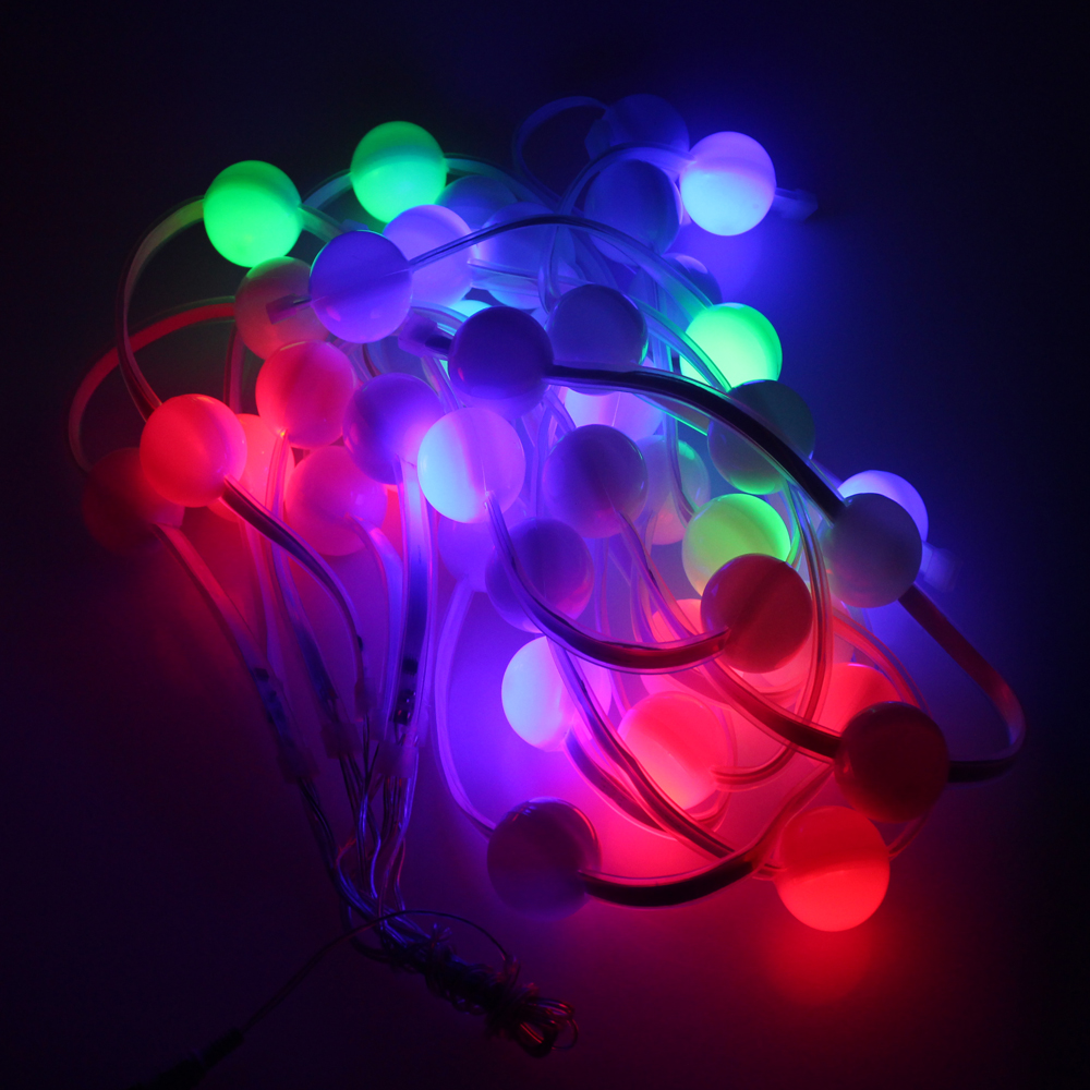 42pcs led bulbs 7m christmas garland string light RGB changeable color ball ligh outdoor wedding party decoration fairy light<br>