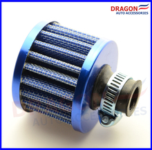Air Filter Car Cone Cold Air Intake Filter Turbo Vent Crankcase Breather Neck: about 12mm Blue Color