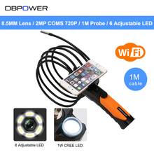 DBPOWER 2MP COMS 720P Wireless WIFI Endoscope 1M Tube Video Inspection Snake Camera 2.4GHZ 802.11b/g/n Video Borescope Android(China)