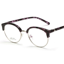 Fashion half frame TR90 optical glasses myopia frame men and women general trend retro light mirror wholesale(China)
