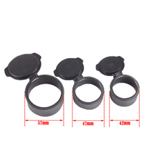 1PC Rifle Scope Quick Flip Cap Spring Up Open Lens Cover Cap Eye Protect Objective Lens Eye Piece for Caliber Scope Hunting Caza(China)