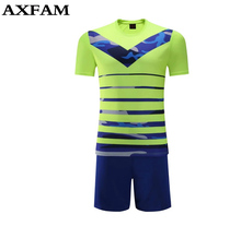 Beautiful Light yello Fading Color Men's Blank Soccer Jerseys Sets Can Customized Name Soccer Uniforms Shirts Suit Free Shipping