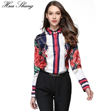 Buy Spring Autumn Fashion Women Shirts Long Sleeve Floral Star Printed Chiffon Blouse Tops OL Lady Office Work Wear Casual Blusas for $14.85 in AliExpress store