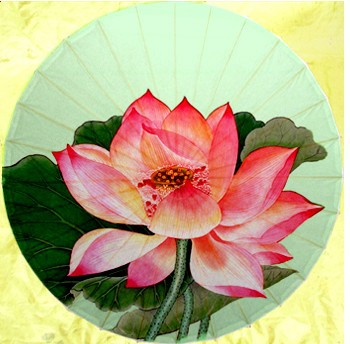 Free shipping dia 84cm blooming lotus oiled paper umbrella Luzhou handmade gift and collection sunshade oiled paper umbrella<br>