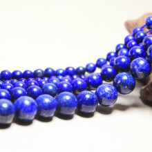 Wholesale  Natural Stone Dye  Lapis Lazuli Beads For Jewelry Making DIY Bracelet Necklace 4mm 6mm 8mm 10mm 12mm