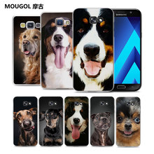 MOUGOL Bernese Mountain Dog puppy design hard transparent Phone Case Case for Samsung Galaxy A7 2017 A7 A8 A3 A5 2016(China)