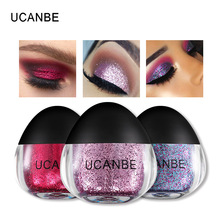 Single Glitter Highlighter Eyeshadow Sleek Pigment Metallic Eye Shadow Loose Powder Creamy Gel Beauty Makeup Sparkling Festival(China)