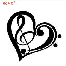 11*10cm Car Styling Heart Music Glue Sticker Auto Motorcycle Decor Decal For Rover Volkswagen ISUZU Nissan Honda Lexus Jeep Fiat(China)