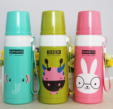 Multi-function 500ml stainless steel animal cartoon bullet thermo bottles women vacuum flasks thermal cups