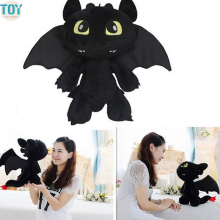 OHMETOY How To Train Your Dragon 2 Toothless Dragon Night Fury Stuffed Plush Toy 18-30cm Anime Movie Animal Dolls Baby Toys(China)