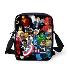 Fashion Kids Cartoon Lego Mini Shoulder Bag Lego Ninjago Iron Man Batman Star War Super Man Spider Man Avengers Messager Bag