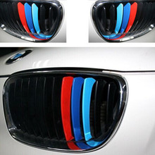 2015 hot For BMW Grill M Sport Tech 3 Color Stripes car Sticker SZ L Decal M3 M5 X3 X5 X6 S7 Free Shipping