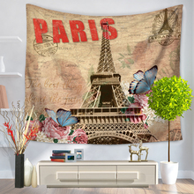 153*130cm Eiffel Tower Tapestry Hanging Wall Carpets Sheet Throw Beach Towel Bedspread Picnic Blanket Table Cloth Yoga Mat Decor(China)