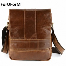 Brand design First layer cowhide leather handbag 100% genuine leather bag men best business messenger real leather bag LI-860