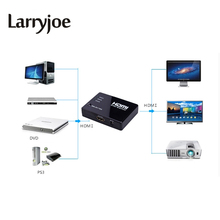 Larryjoe Promotion Hot Top Quality 3 Port 1080P Video HDMI Switch Switcher Splitter IR Remote For HDTV PS3 DVD(China)