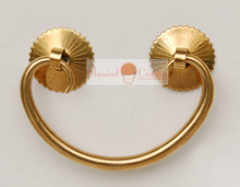 6.5cm Horizontal Handles for Chinese Furniture Brass Hardware Trunk Wood box Drawer Pull Copper(China)