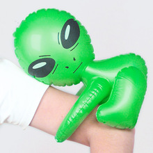 Kawaii Inflatable Green Alien Model Toys Child Inflated Toys CosPlay Halloween/Birthday Party Supplies Kids Science Teach Toys