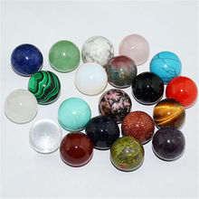 16mm Natural Gem stone Round Ball Crystal Healing Sphere Rock Stones Decoration Beads