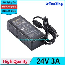 1pcs AC DC 24V 3A Power Supply 72W Adapter Charger Transformer 2A For LED Strip Light CCTV Camera With IC Chip(China)