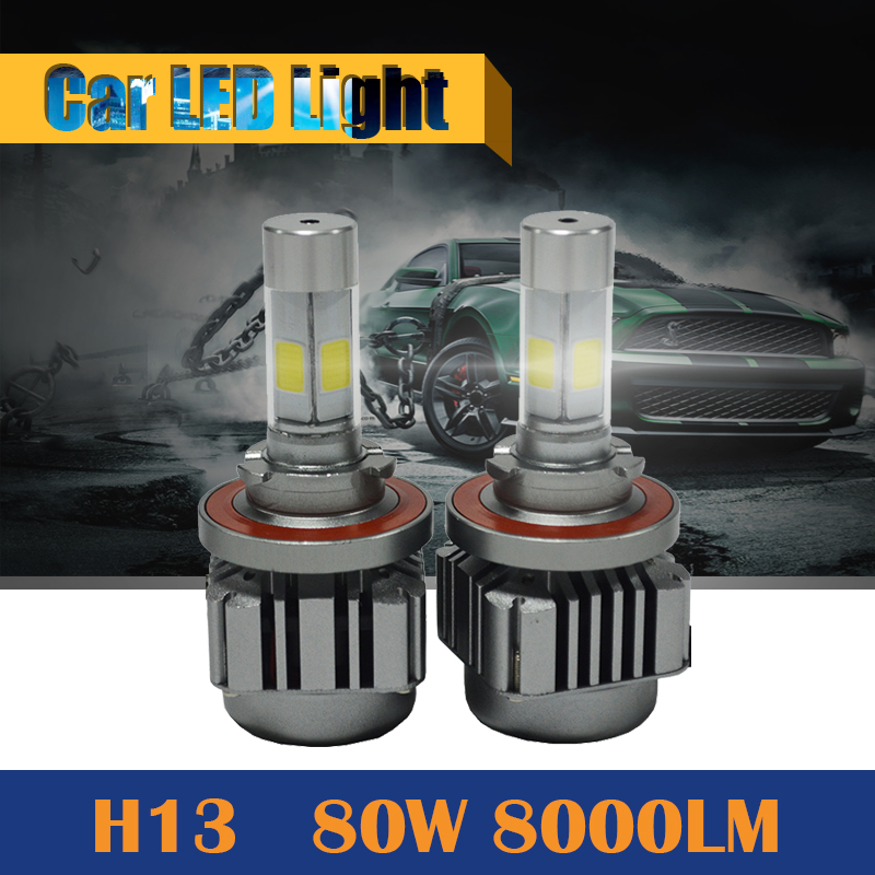 H13 80W 8000LM LED Bulb High Low Beam 6000K White Car Replacement Headlight Headlamp Super Power !<br><br>Aliexpress