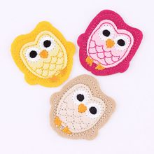 Hot Sale 1PCS Brand Logo Patches Cartoon Owl Embroidered Iron On Patch For Clothing Jacket Applique Applique DIY Accessory(China)