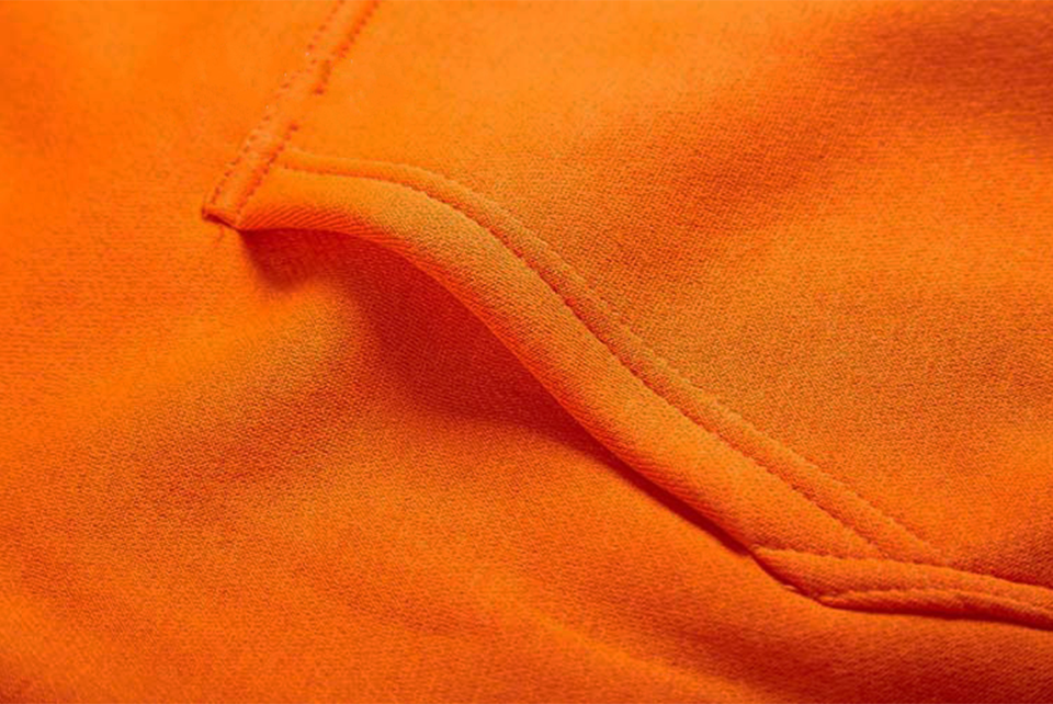 17 fashion color orange hooides men's thick clothes winter sweatshirts men Hip Hop Streetwear solid fleece hoody man Clothing 24