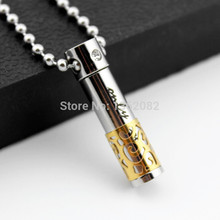 Stylish Men Women's ONLY LOVE Stainless Steel Hollow Openable Perfume Bottle Couple Pendants Necklaces Gift YN441