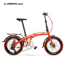 QF600G 20 Inches Folding Bicycle, 7 Speeds Folding Bike, High-carbon Steel Frame, BMX, Both Disc Brakes(China)