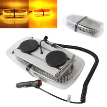 Low Power Consumption12V 240LEDs Car Strobe Emergency Warning Mini Strobe Light Bar Magnetic Base(China)